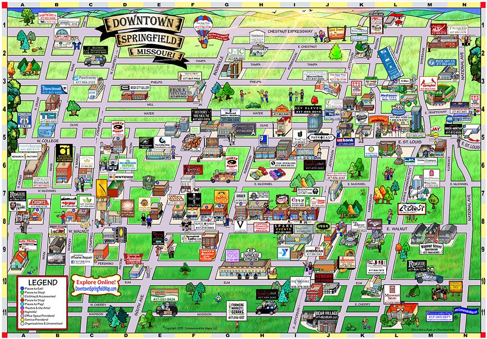 Downtown Springfield Map Home